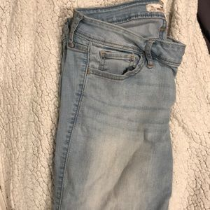 Light blue, long, skinny jeans